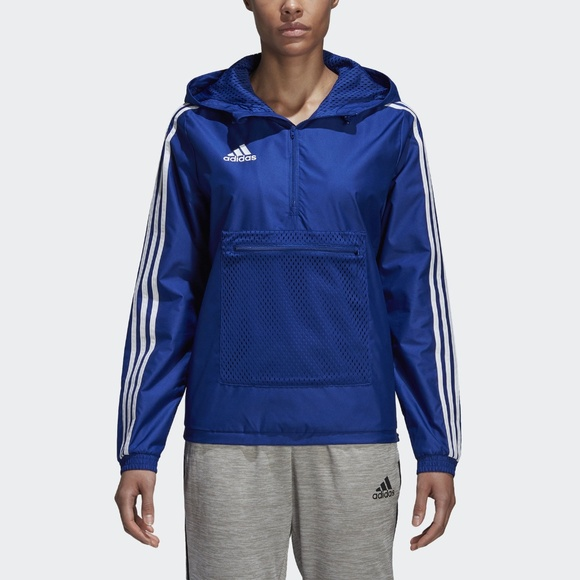 ecb022edbd09 adidas Blue Rain Jacket Women s